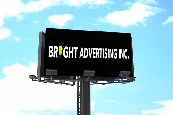 Bright Advertising blank billboard