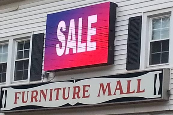 Bright Advertising sale sign