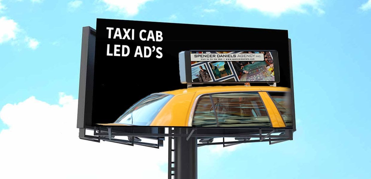 Bright Advertising taxi cab led signs