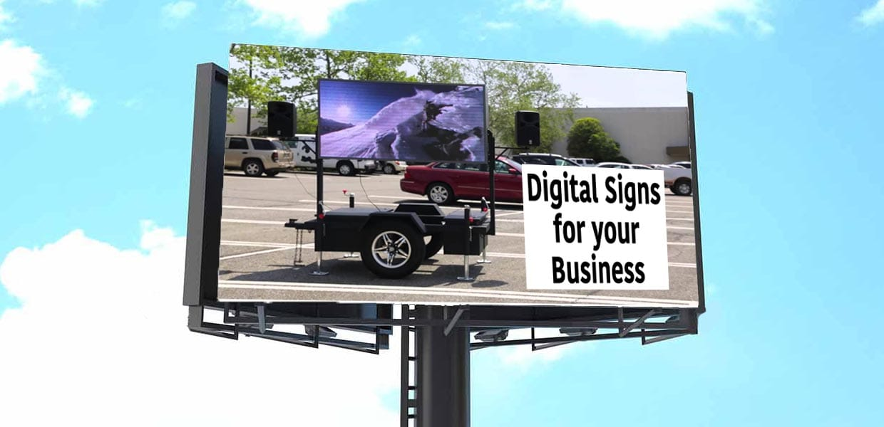Bright Advertising digital signs
