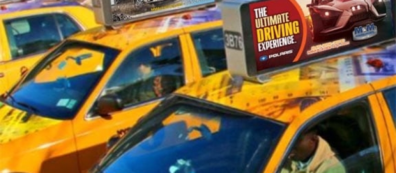 Bright Advertising taxi toppers